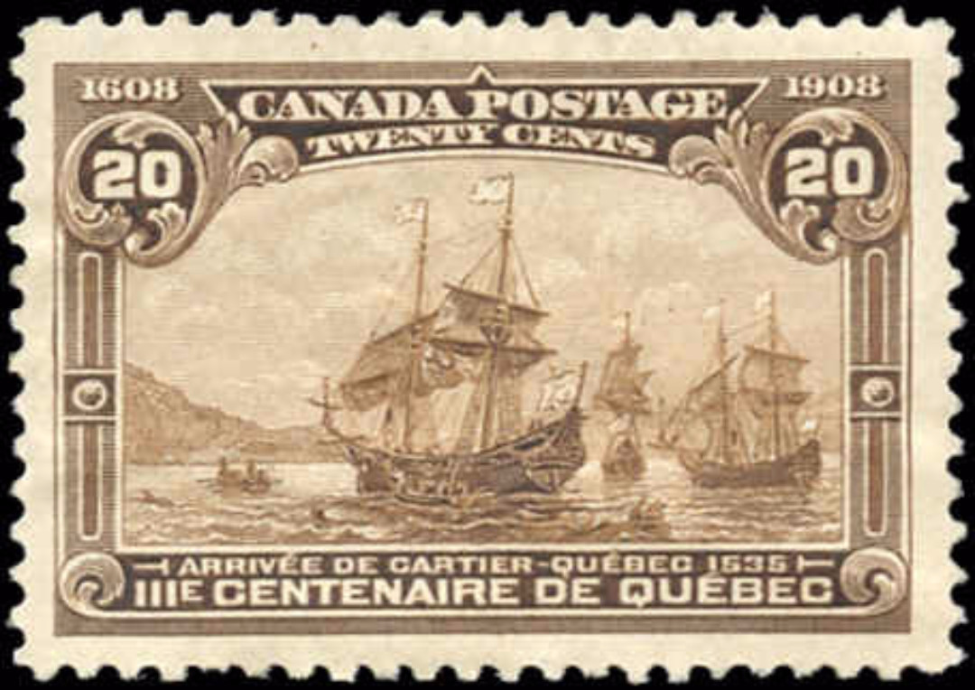Canada #103, Tercentenary Issue, VF, MH