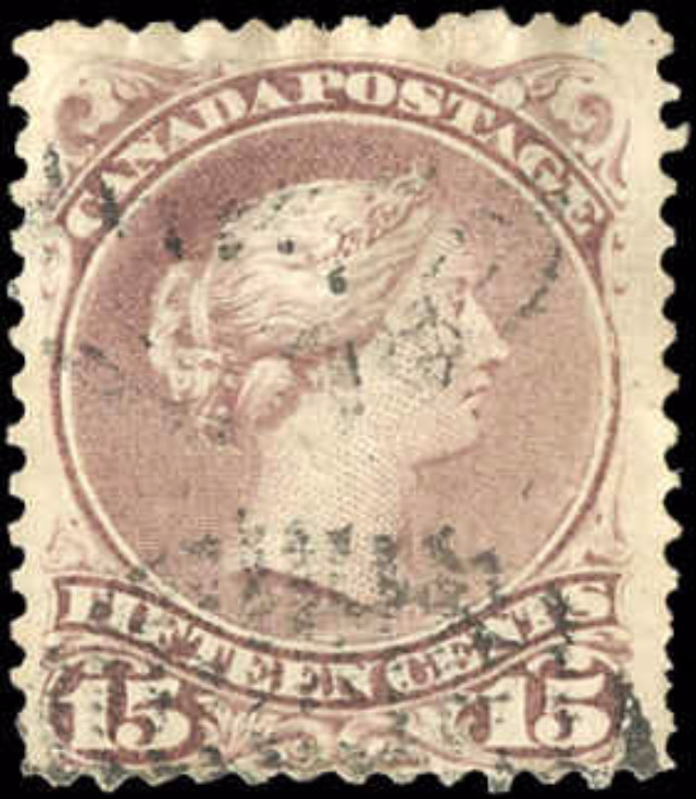 Canada ##29b, Large Queen Issue, F+, Used