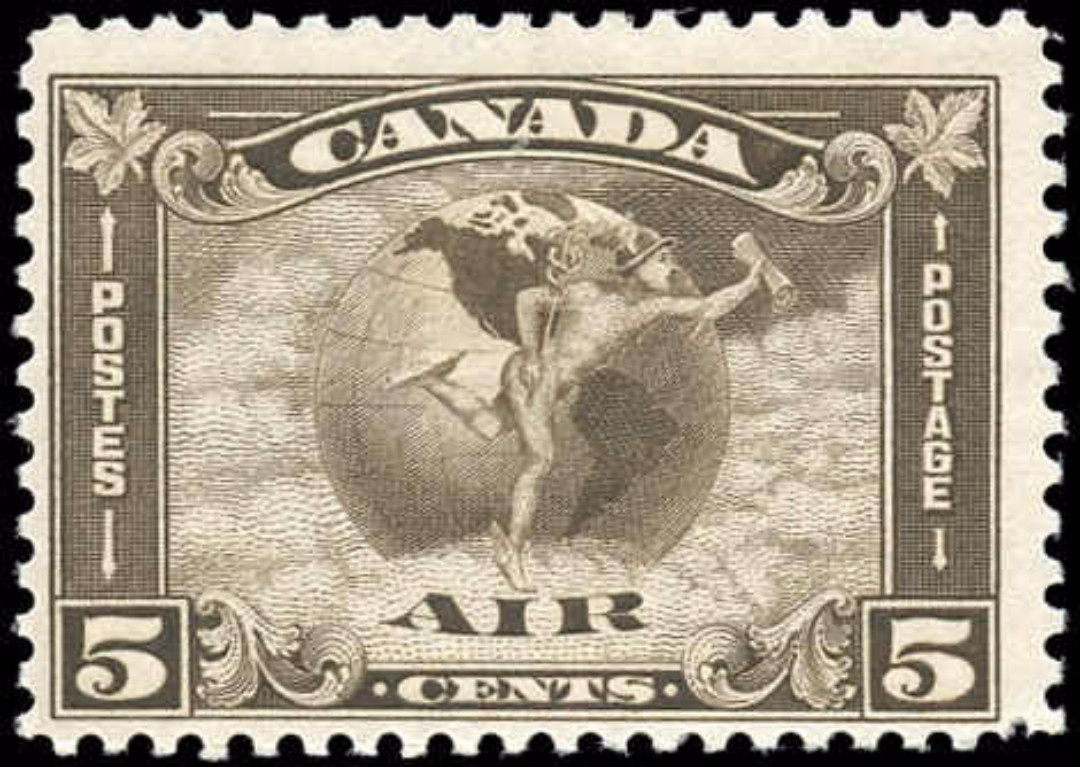 Canada #C2, Airmail Issue, F+, MH