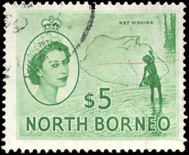 North Borneo, #274, F+, Used