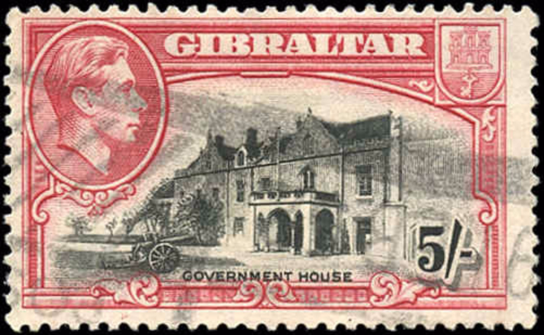 Gibraltar, #116, F+, Used