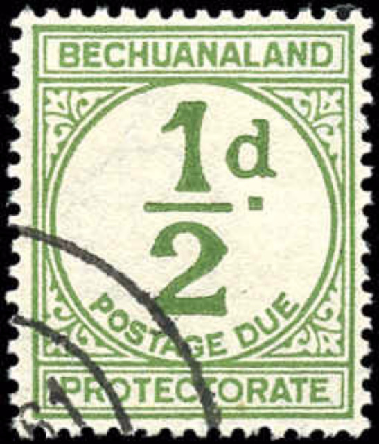 Bechuanaland Protectorate, #J4, F-VF, Used