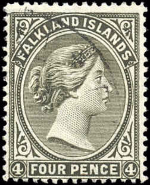 Falkland Islands, ###6c, F/F+, Used