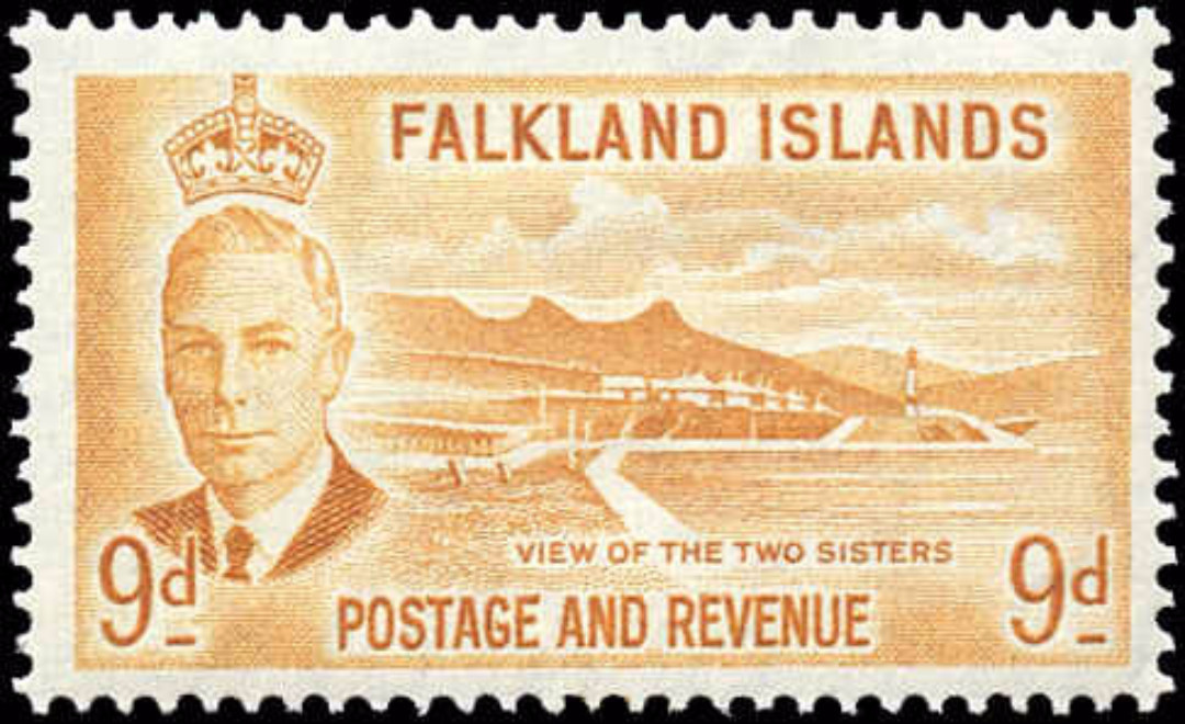 Falkland Islands, #114, F+, MH