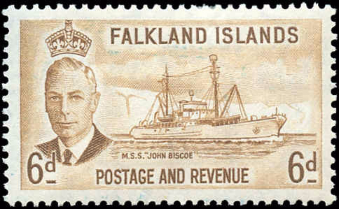 Falkland Islands, #113, F-VF, MH