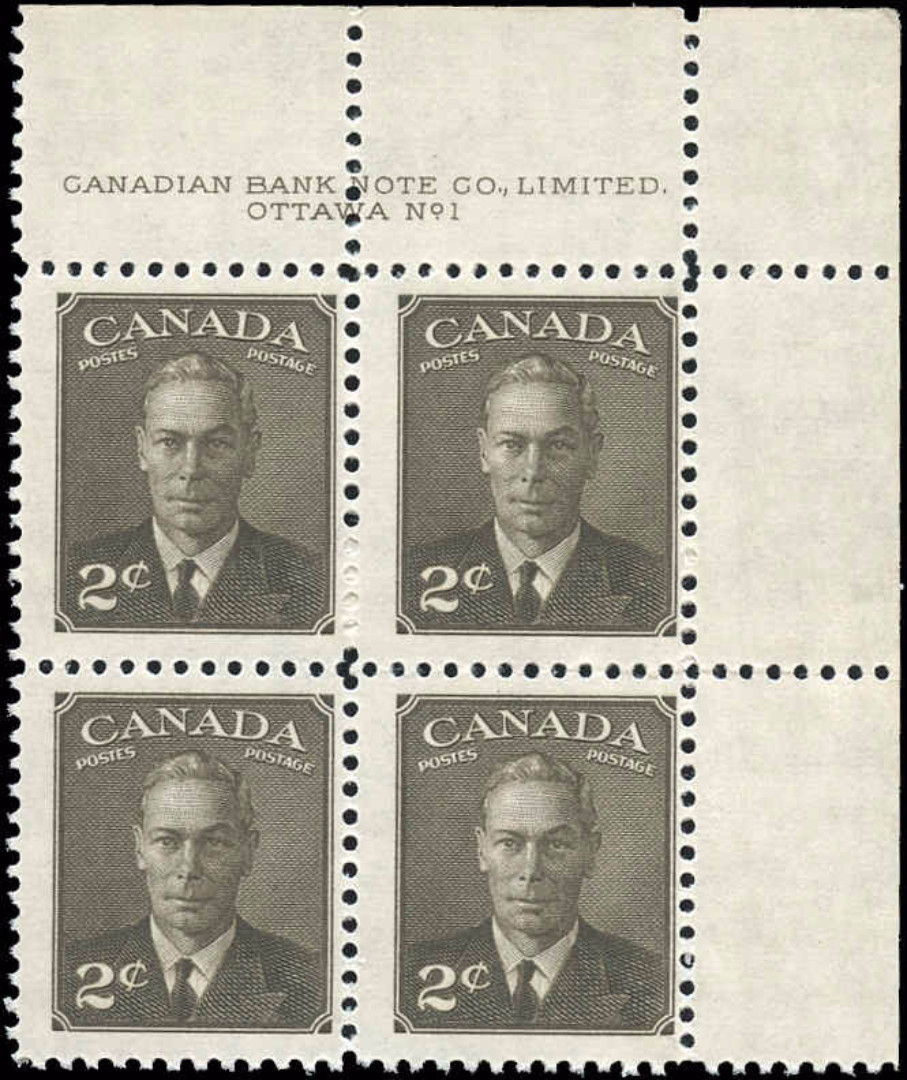 Canada #285, Postes-Postage Issue, MNH