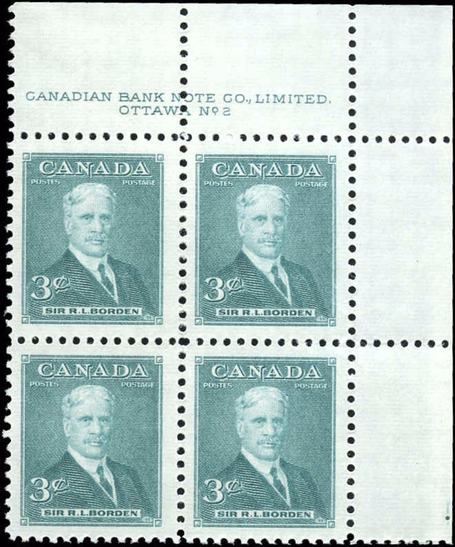 Canada #303, Prime Ministers Issue, VF, MNH