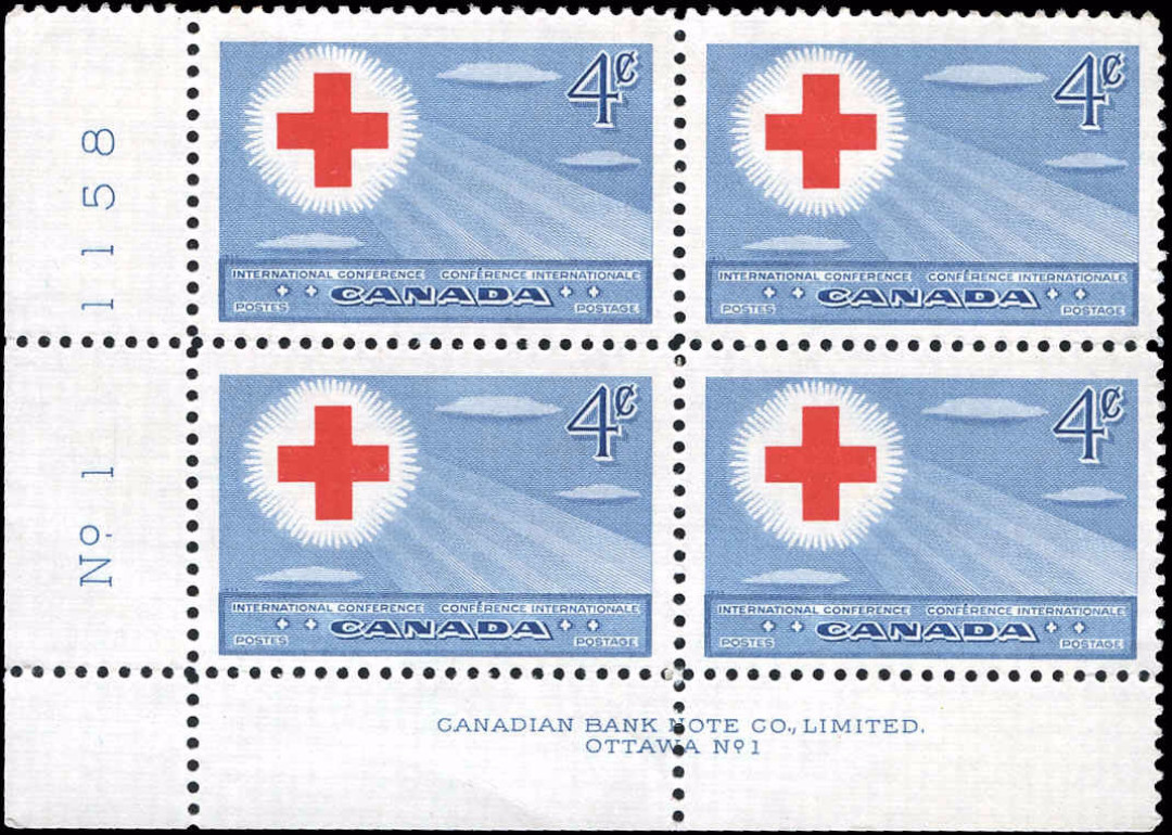 Canada #317, Red Cross Isssue, F-VF, MNH
