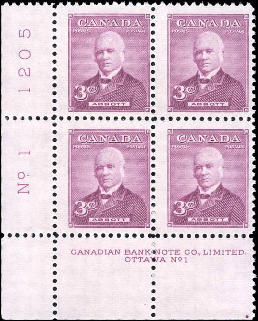 Canada #318, Prime Ministers Issue, F-VF, MNH