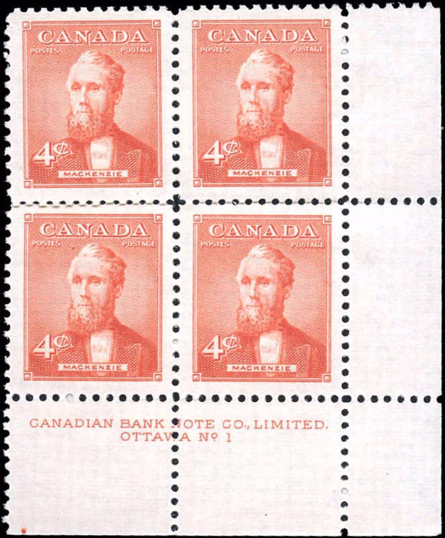 Canada #319, Prime Miniisters Issue, F-VF, MNH