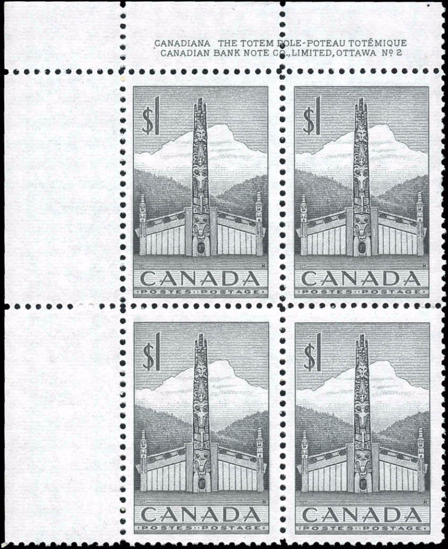 Canada #321, Totem Pole Issue. F-VF, MNH
