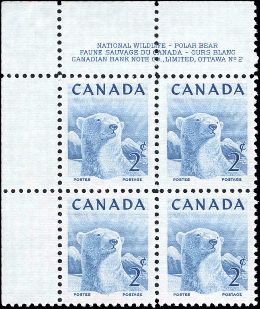 Canada #322, Wildlife Issue, F-VF, MNH