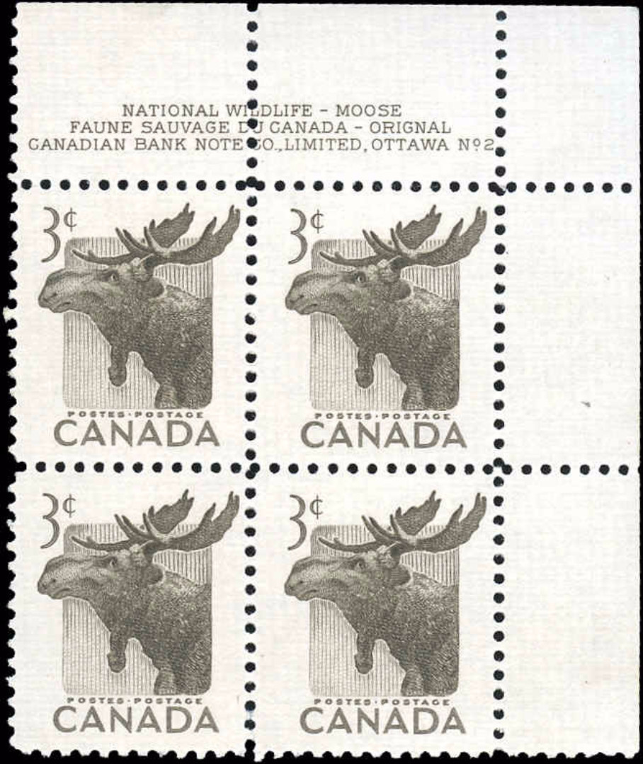 Canada #323, Wildlife Issue, F-VF, MNH