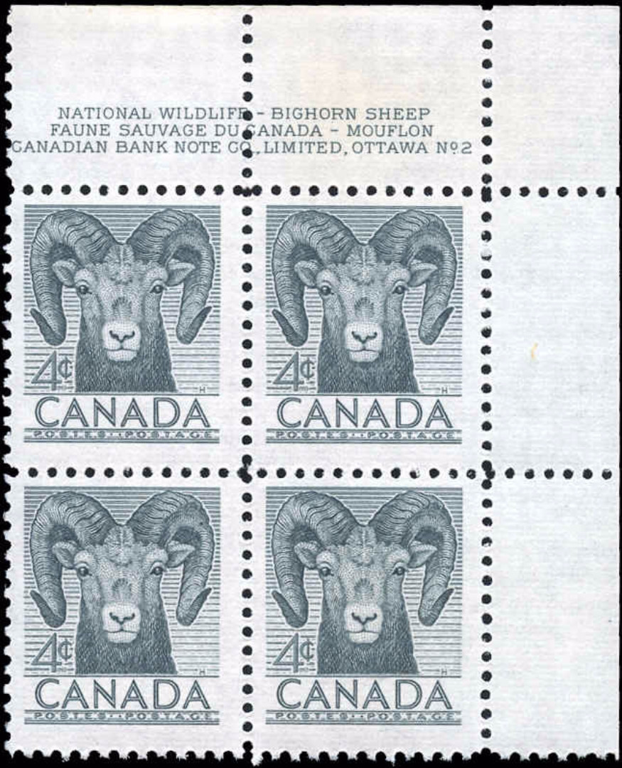 Canada #324, Wildlife Issue, F-VF, MNH