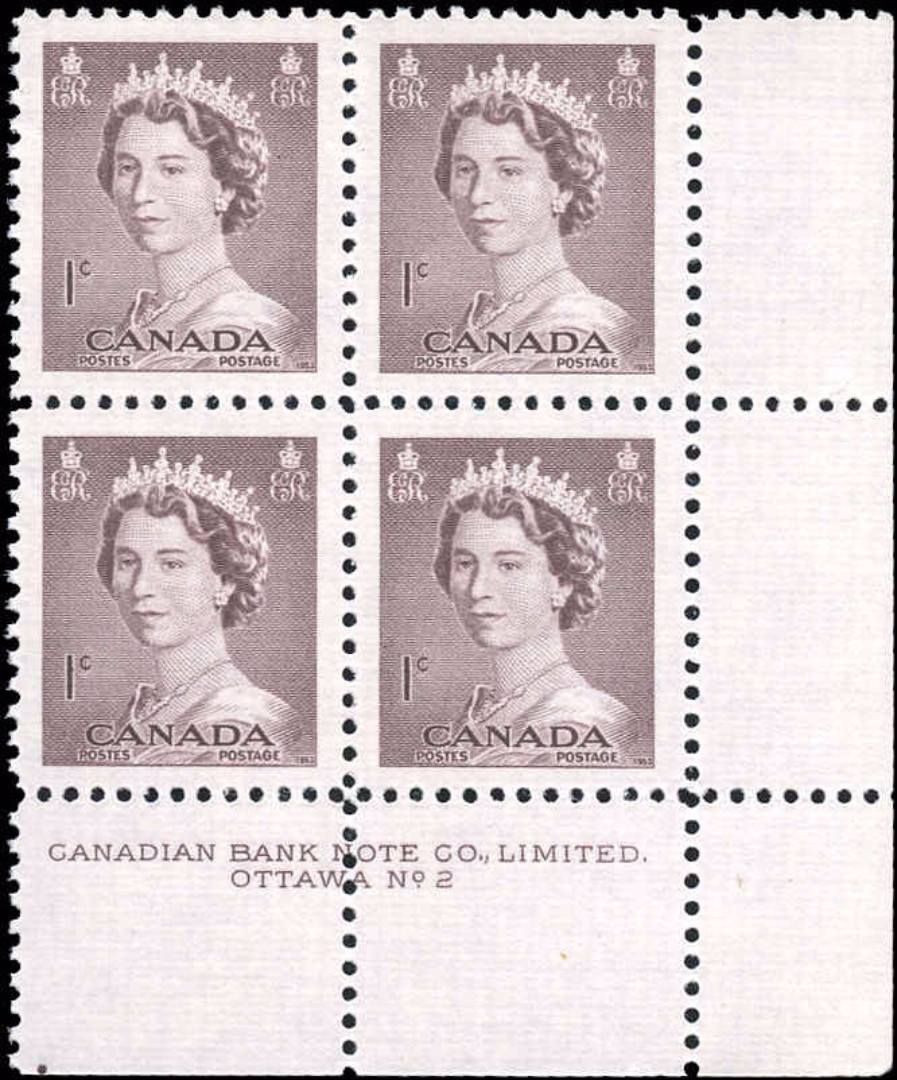 Canada #325, QEII Issue, F-VF, MNH