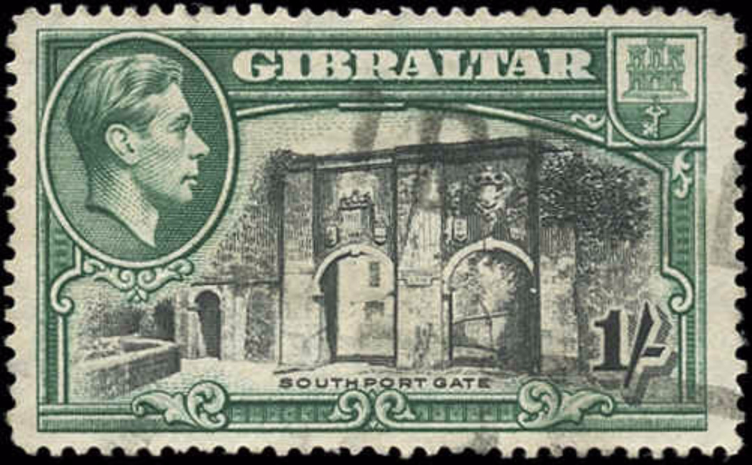 Gibraltar, #114a, F+, Used