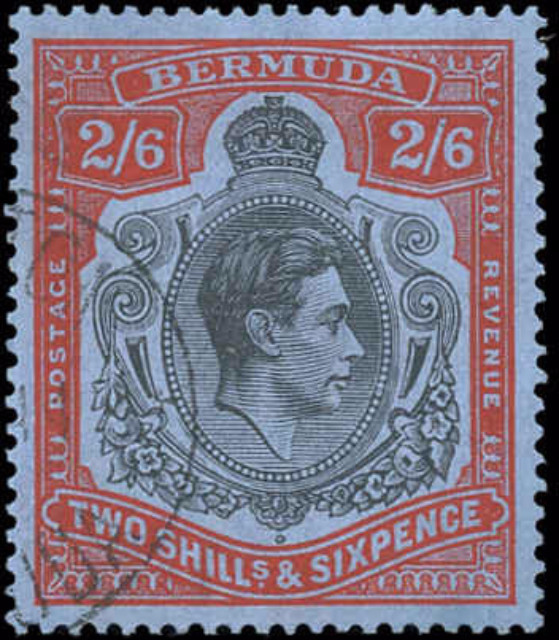 Bermuda Stamp, Scott #124b, F-VF, Used