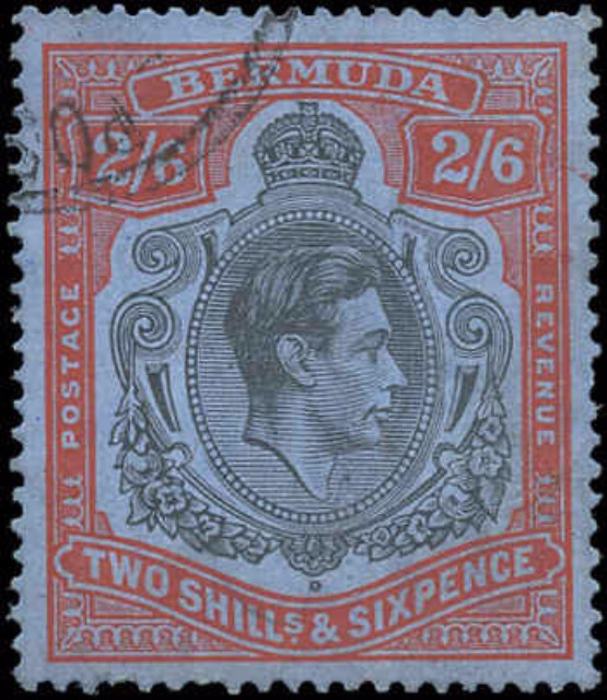 Bermuda Stamp, Scott #124a, F-VF, Used