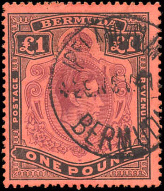 Bermuda Stamp, Scott #128b, F+, Used