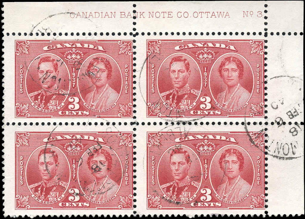 Canada #237, KGVI Coronation Issue, F, Used