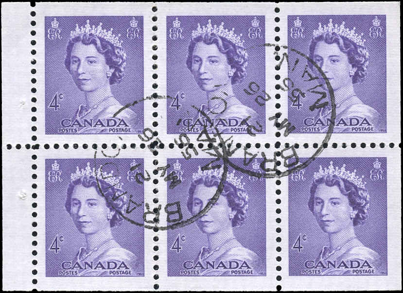 Canada #328b, QEII Issue, VF, Used