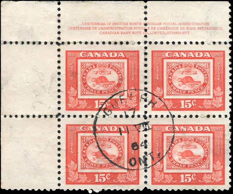 Canada #314, Stamp Centenary Issue, F-VF, Used