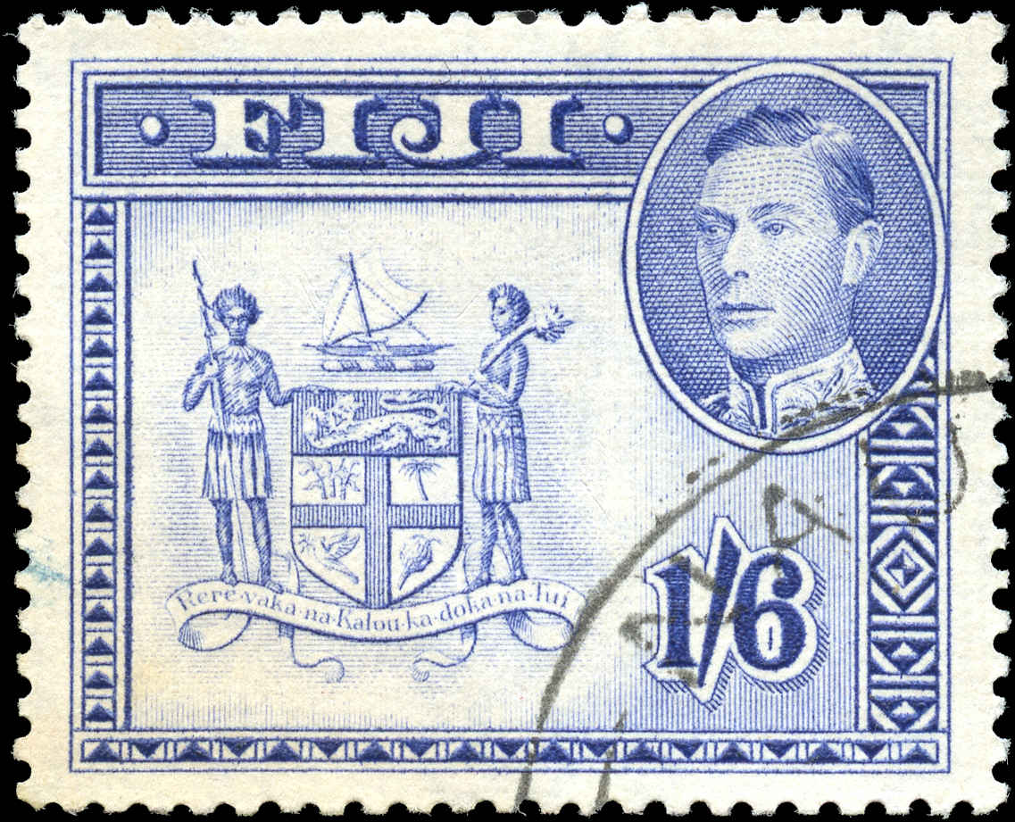 Fiji, #128b, VF, USED
