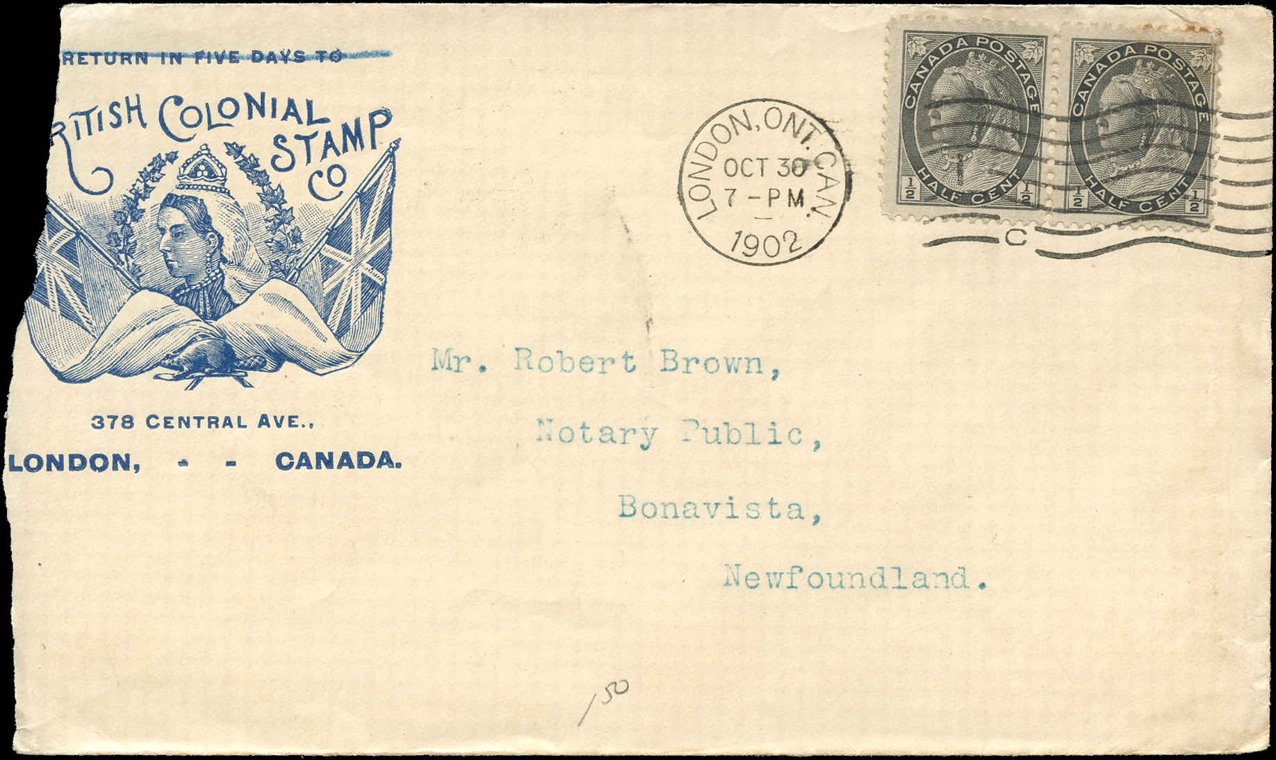 1902-Canada Cover-10/30/1902 (Oct. 30, 1902}