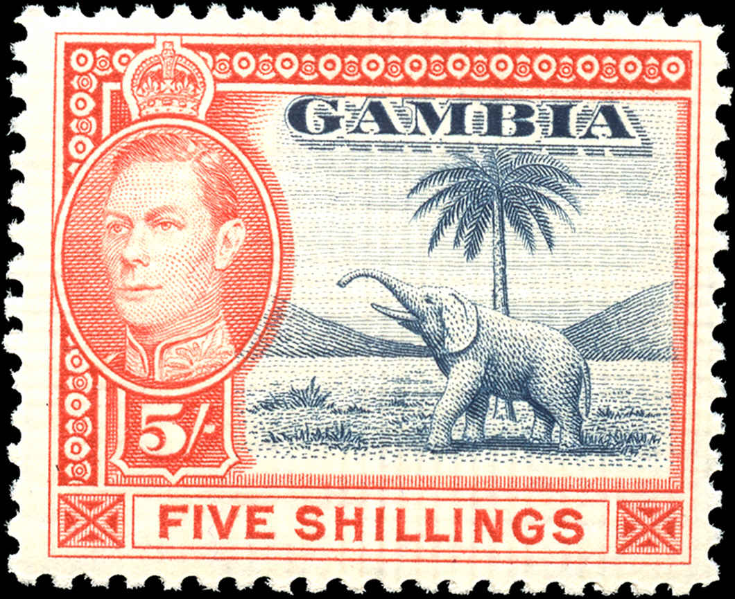 Gambia, #142, F-VF, MH