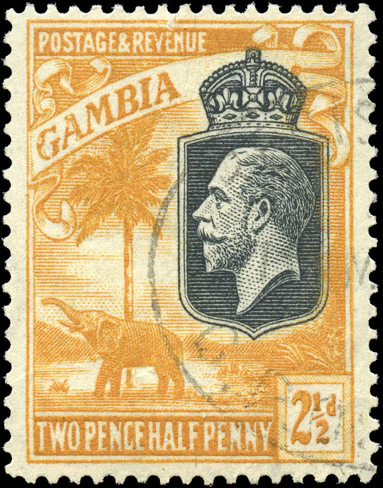 Gambia, #106, F+, Used
