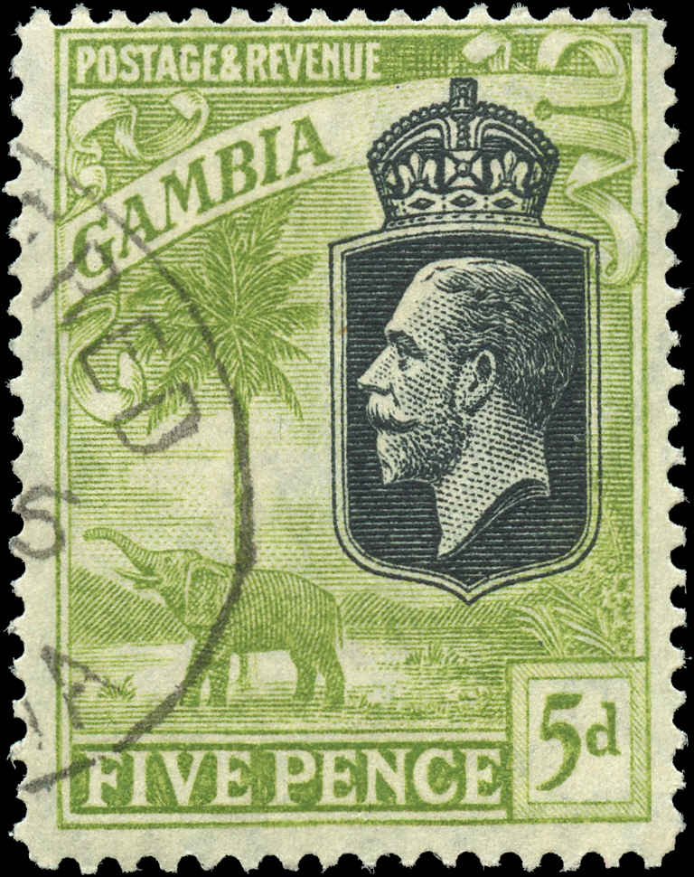 Gambia, #109, F, Used