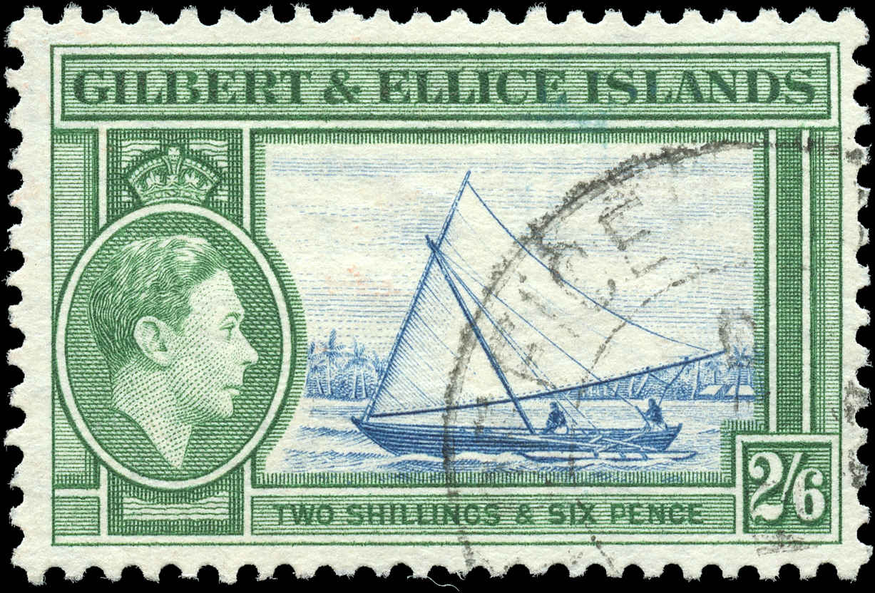 Gilbert & Ellice Islands, ##50, F-VF, Used