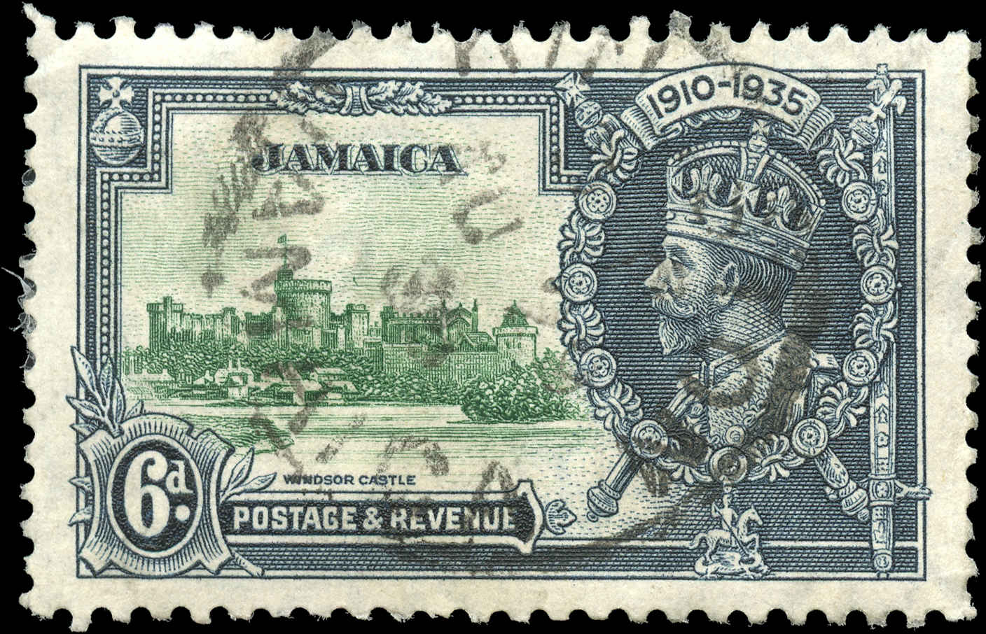 Jamaica, #111, VF, Used