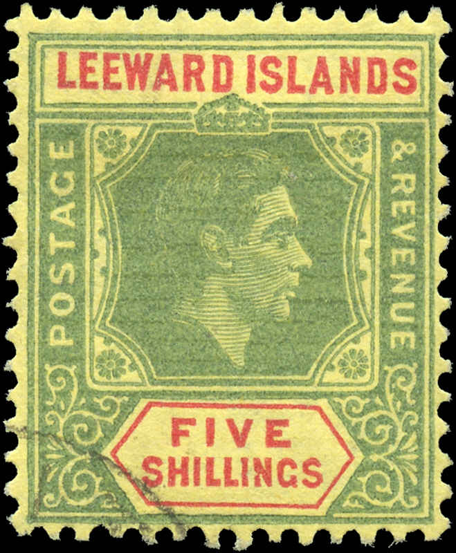 Leeward Islands, #113, F+, Used