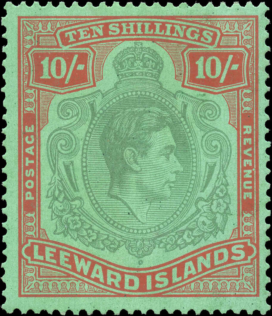 Leeward Islands, #114, F-VF, MH