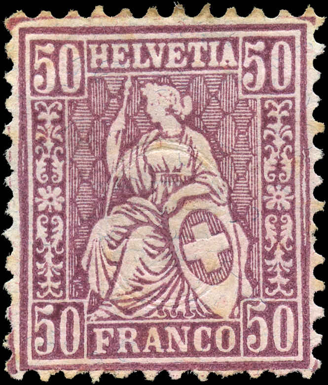 Switzerland ##67, F+, Mint - No Gum
