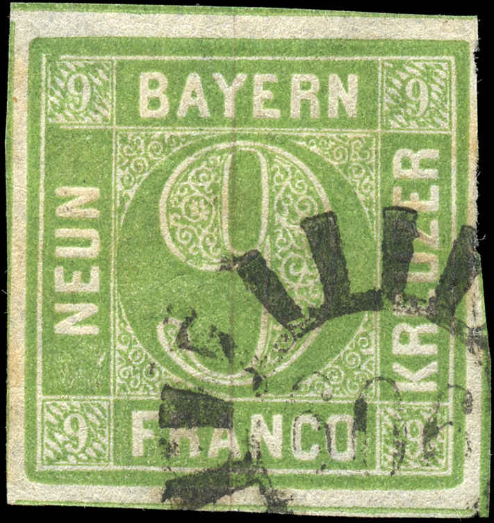 German States - Bavaria,  ###6, F-VF, Used