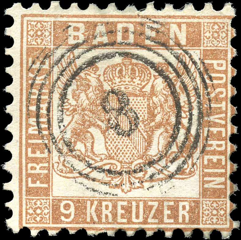 German States - Baden,  ##23a, F, Used