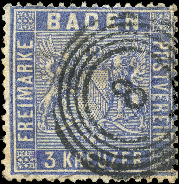 German States - Baden,  ##12, F, Used