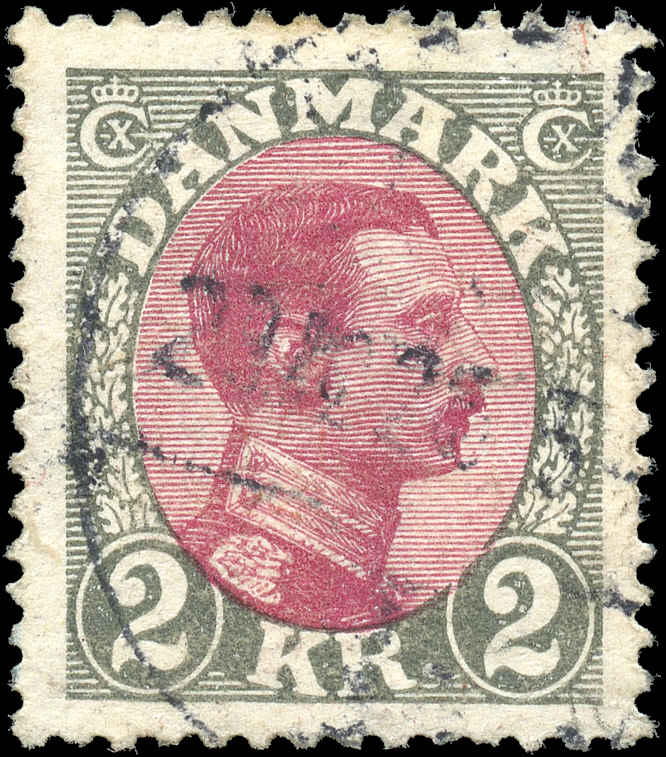 Denmark, #129, F-VF, Used