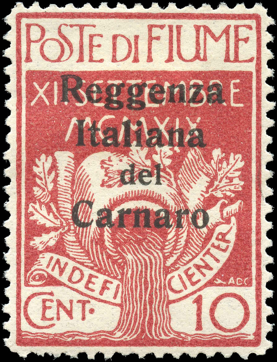 Fiume, #107, VF, MH