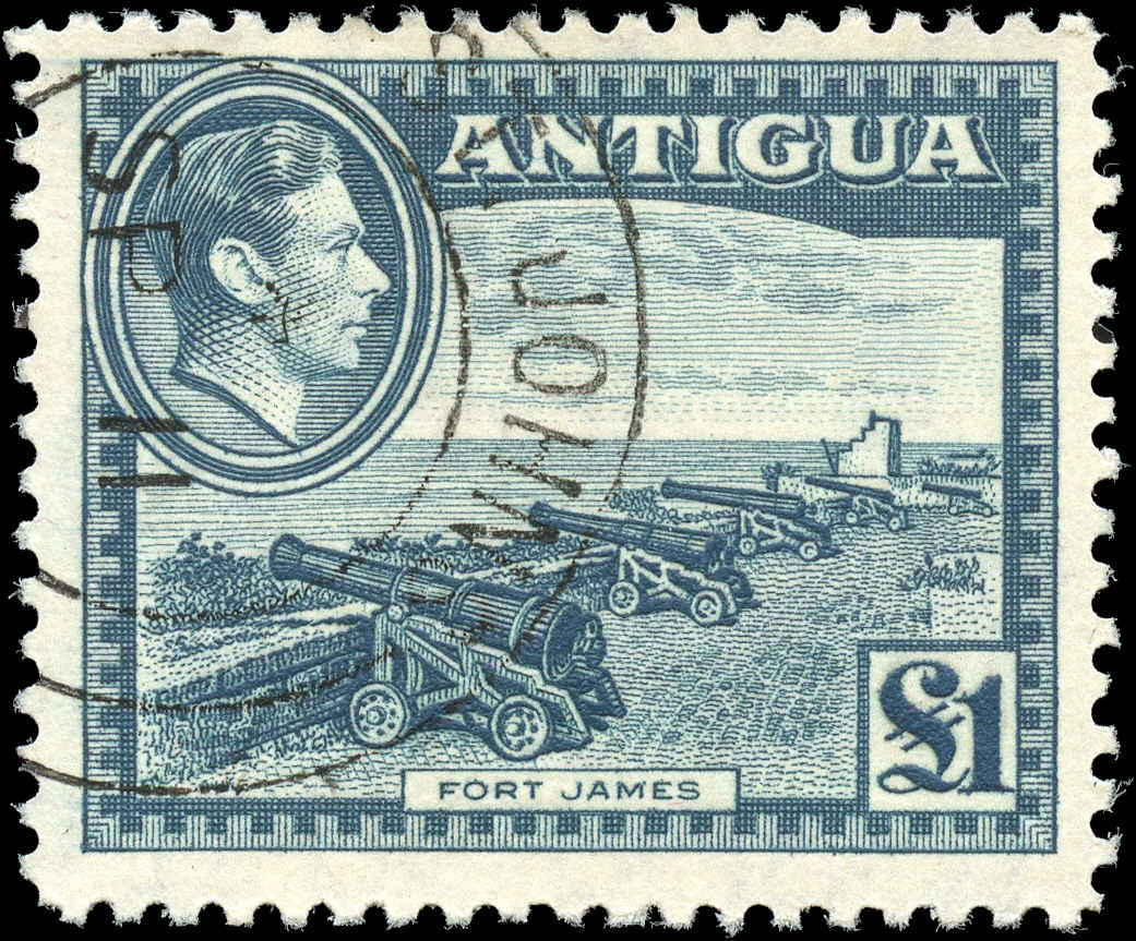 Antigua, ##95, F-VF, Used