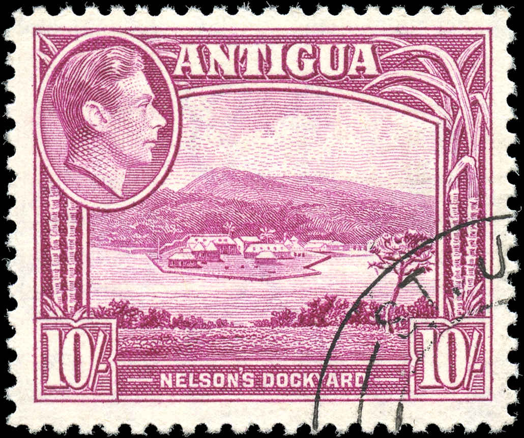 Antigua, ##94, F-VF, Used