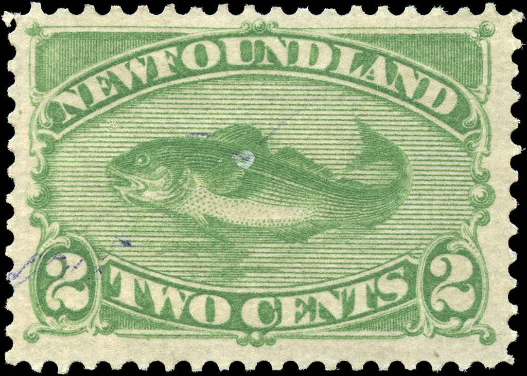 Newfoundland ##46, F-VF, MH (Ink Stain)