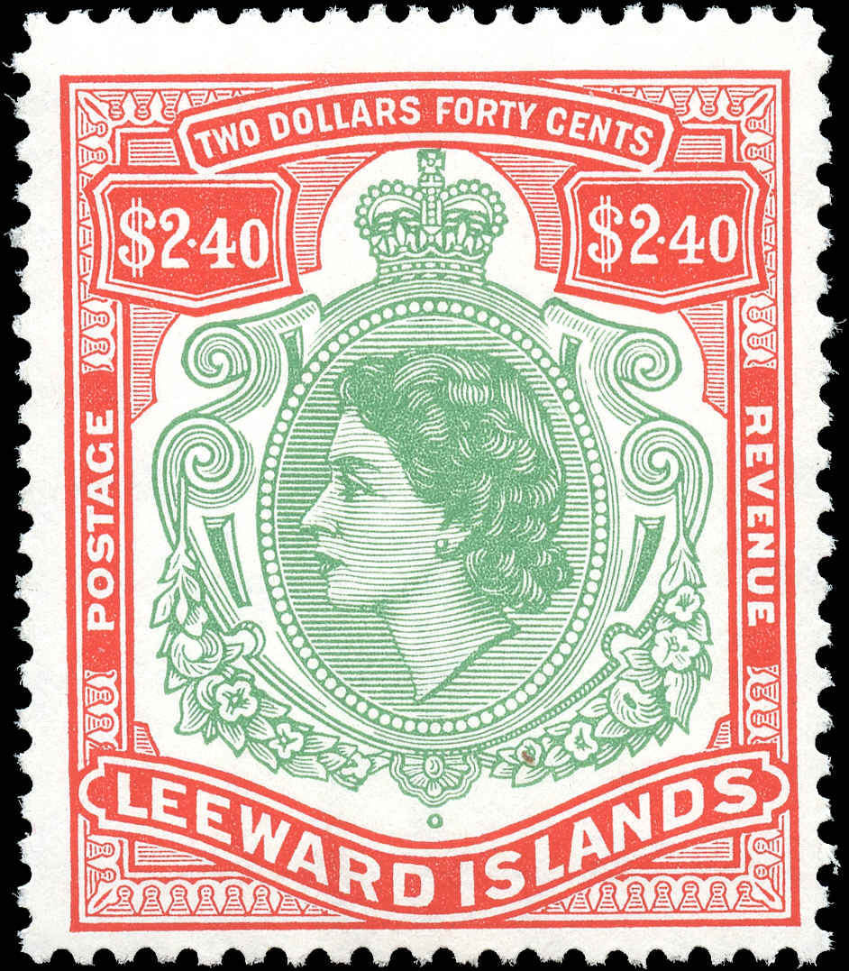 Leeward Islands, #146, F+, MNH