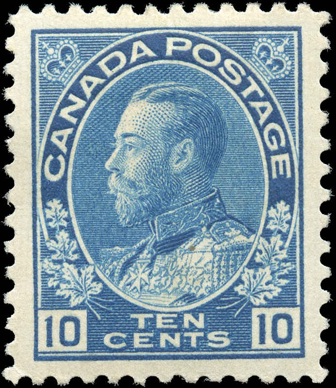 Canada #117, Admiral Issue, VF, MH