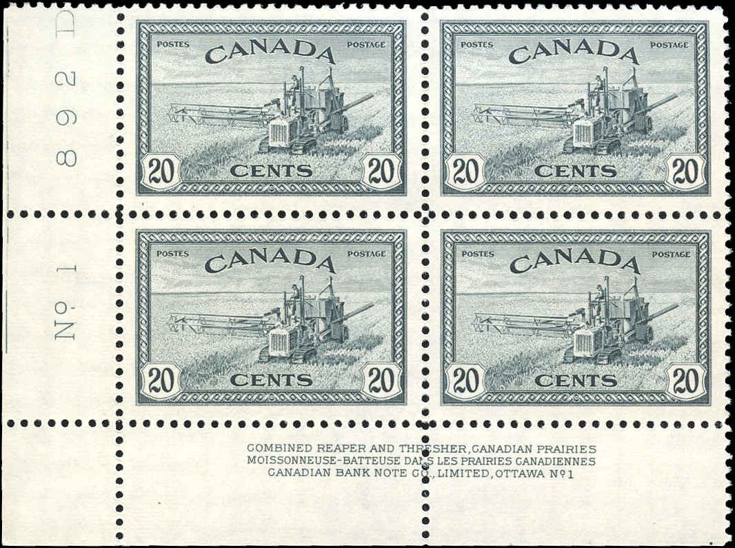 Canada #271, Peace Issue, VF, MNH