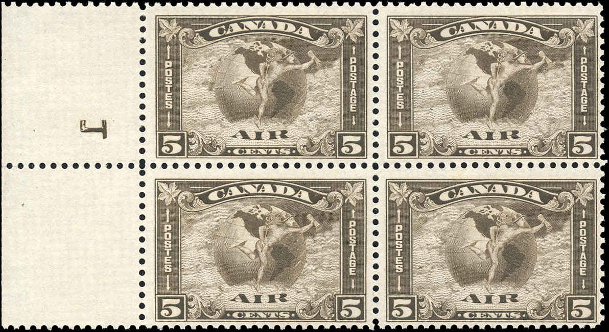 Canada #C2, F+, MNH,  with REVERSED 1