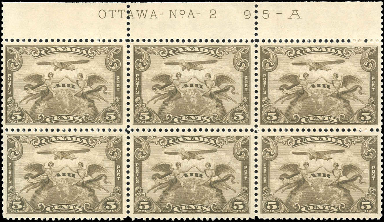 Canada #C1, Airmail Issue, VF, MNH, Plate 2