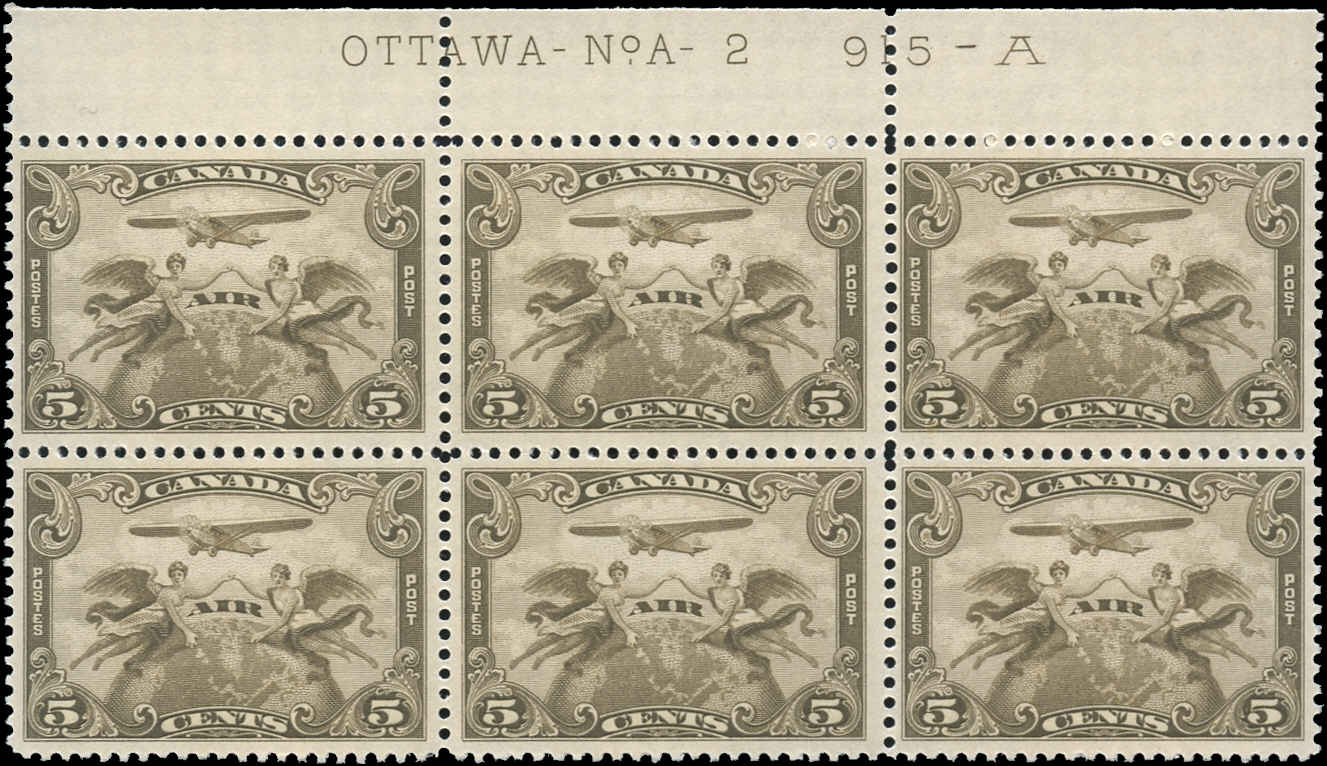 Canada #C1, Airmail Issue, F-VF, MNH, Plate 2